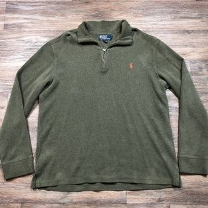 Polo by Ralph Lauren Quarter-Zip Sweater Large I84